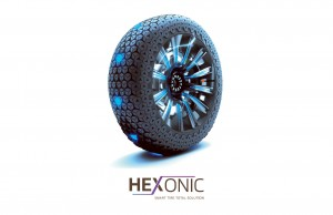 """Hexonic"" is an intelligent tyre concept for autonomous shared mobility vehicles."